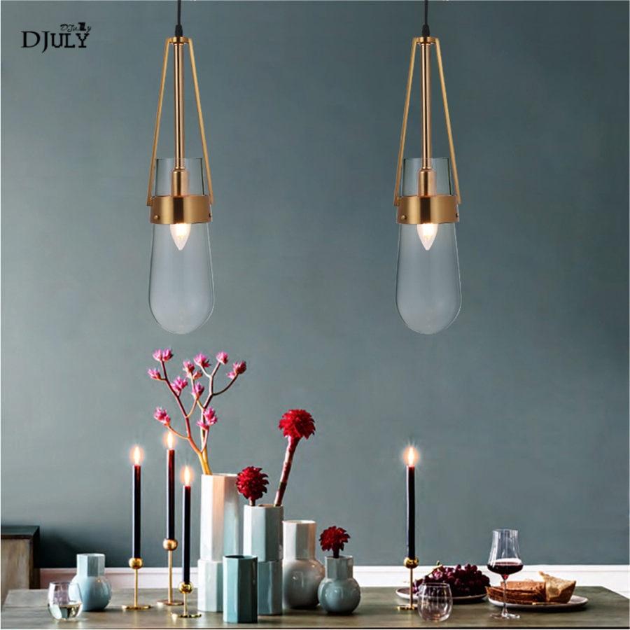 postmodern nordic design drop stain glass pendant lights luxury home deco hang lamp living room dining room bar hanging lights