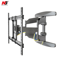 NB P6 40 70 Flat Panel LED LCD TV Wall Mount Full Motion 6 Swing Arms Monitor Holder Frame