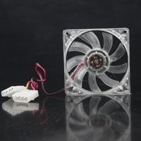 2 peças 4Pin 8015mm 8 80x80x15 cm 12 v Transparente DC Ventiladores Cooler 80mm x 15mm
