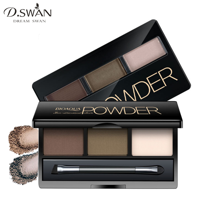 Professional 3 Color Eye Brow Powder Eye Shadow Makeup Palette Matte Cosmetic Eyebrow Cake Powder Kit Tutorial In Eyebrow Enhancers From Beauty