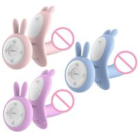 7 Modes Wearable Heating Wireless Remote Control Rabbit Vibrating USB Charge Silicone Adult Sex Toy
