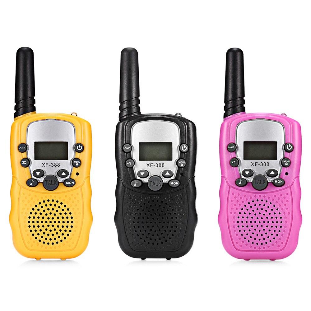 XF-unids 388 2 PCs Walkie Talkies portátiles para niños 2 vías Radio 3 km Rango 8 canales niños Mni juguetes de mano Walkie Talkie