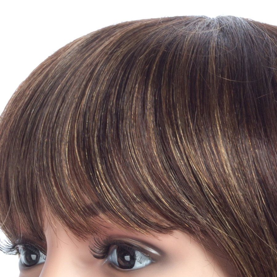NAYOO 150% Density Peruvian Straight Hair Non Lace Human Hair Wigs Remy Hair Straight Wigs 10inch Natural Color