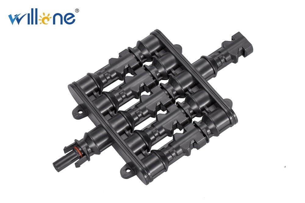 Willone 10 paire livraison gratuite 5 à 1 MC4 T branche 30A panneau solaire connecteur câble coupleur Combiner MC4 panneau fils connexion