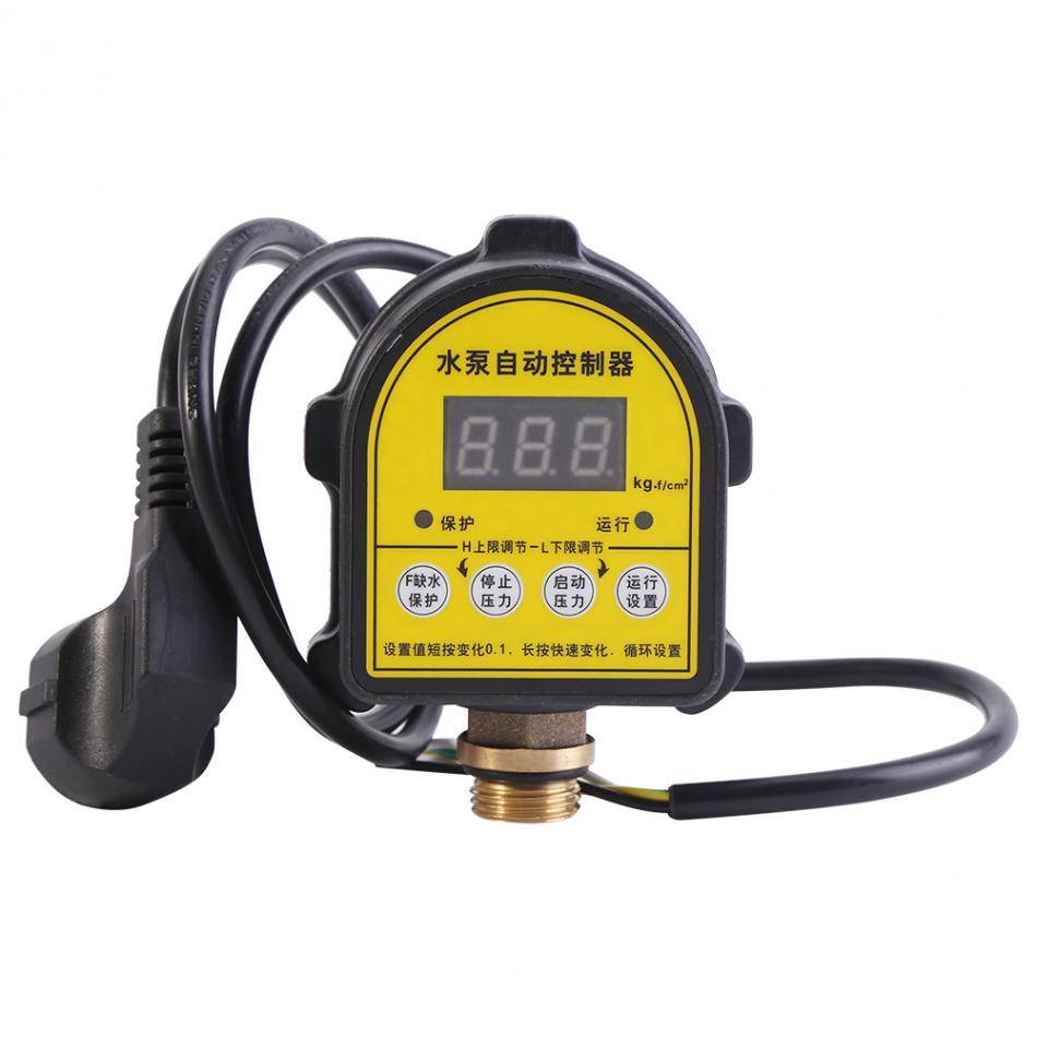Eletronic Pressure Controller for Water Pump Automatic Digital Water Pump Pressure Controller ON OFF Switch 220V rhinestone rose leaf faux gem brooch