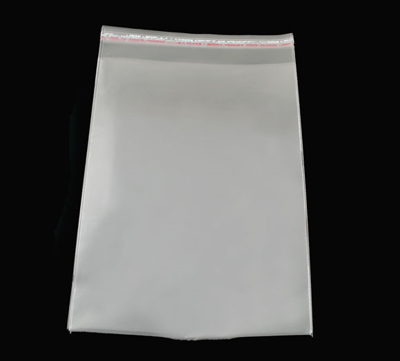 Doreen Box Hot-  100 PCs Clear Self Adhesive Seal Plastic Bags 15x24cm (B04011)