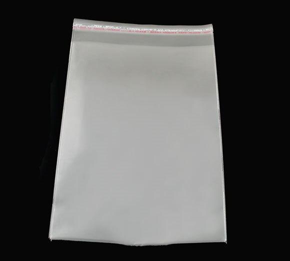 Doreen Box Hot-  100 PCs Clear Self Adhesive Seal Plastic Bags 15x24cm (B04011)