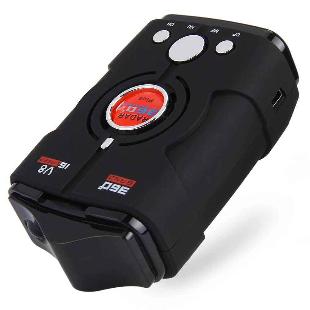 מובטח 100% V8 רכב גלאי רדאר 16 נד רוסיה/אנגלית גרסת תצוגת LED שחור רכב גלאי רדאר נגד מהירות קול התראה