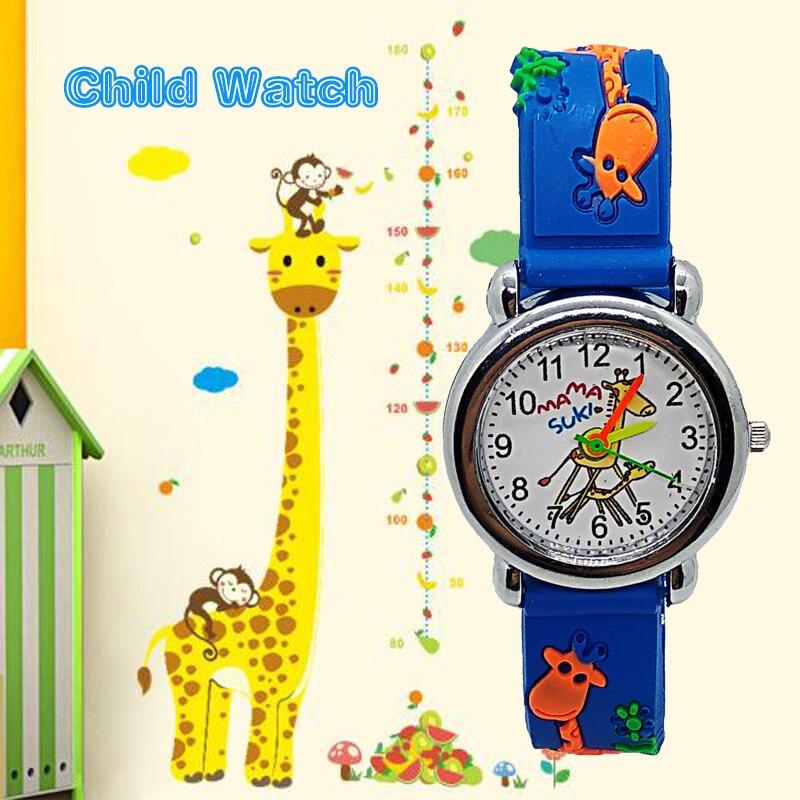 Adventure Time Animal giraffe Children Watch For Boy Girl Clock Kids sports watches Child Digital Leather Quartz Wristwatches C7