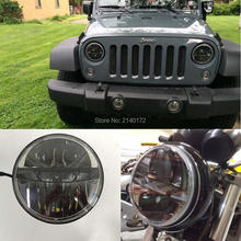 """36W 7inch Motorcycle LED Headlight with High/Low Beam 7"""" headlight for Jeep Wrangler CJ JK Motorcycle Offroad"""