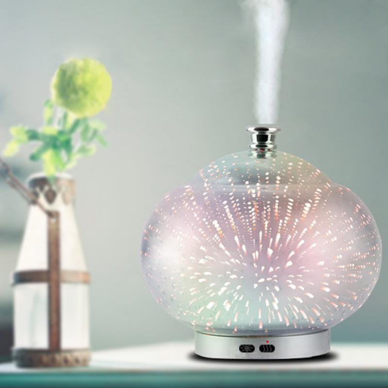 90ml Air Humidifier Oil Diffuser EU plug Mist Humidifier Air Purifier Mini Colorful LED Lights electric aroma for home decor