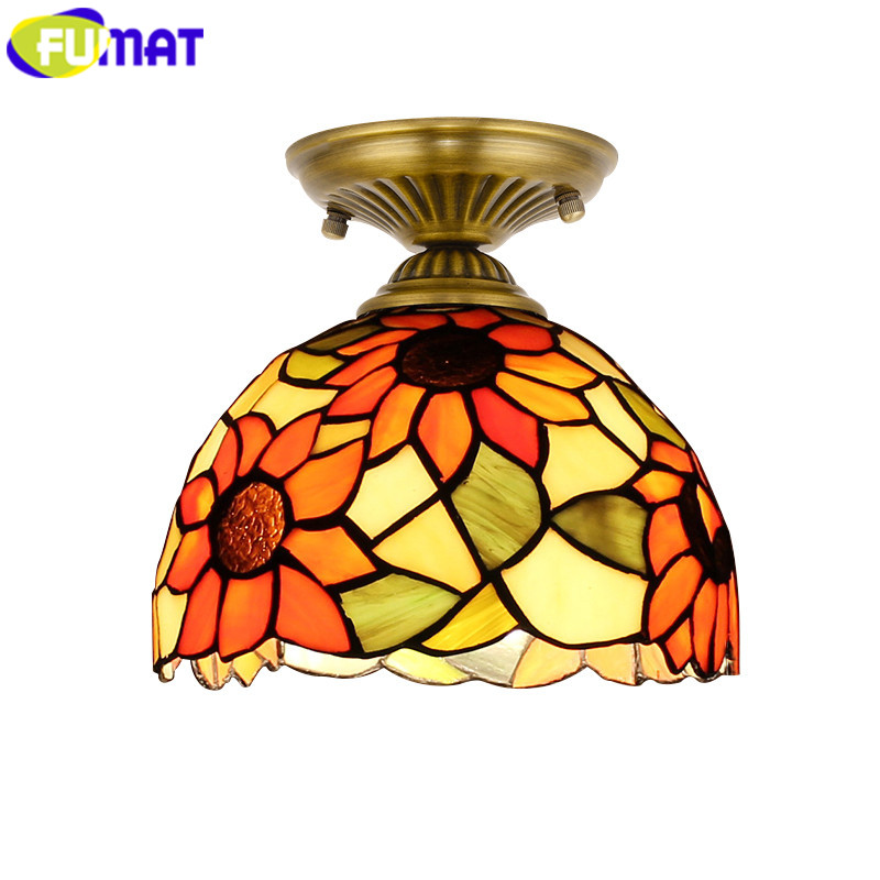 FUMAT Tiffany ceiling lights Stained Glass luminaria Lamp Ceiling Light 8 Inch LED lustre hanging light fixture hanglamp LampsFUMAT Tiffany ceiling lights Stained Glass luminaria Lamp Ceiling Light 8 Inch LED lustre hanging light fixture hanglamp Lamps