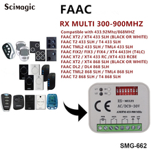 FAAC XT2 XT4 868SLH Self Rolling Code Remote Control 433 MHz 868 MHz Receiver 300-900mhz Multi Frequency universal receiver beninca bft came doorhan faac ditec nice faac receiver universal rolling code auto scan frequency 300 868mhz