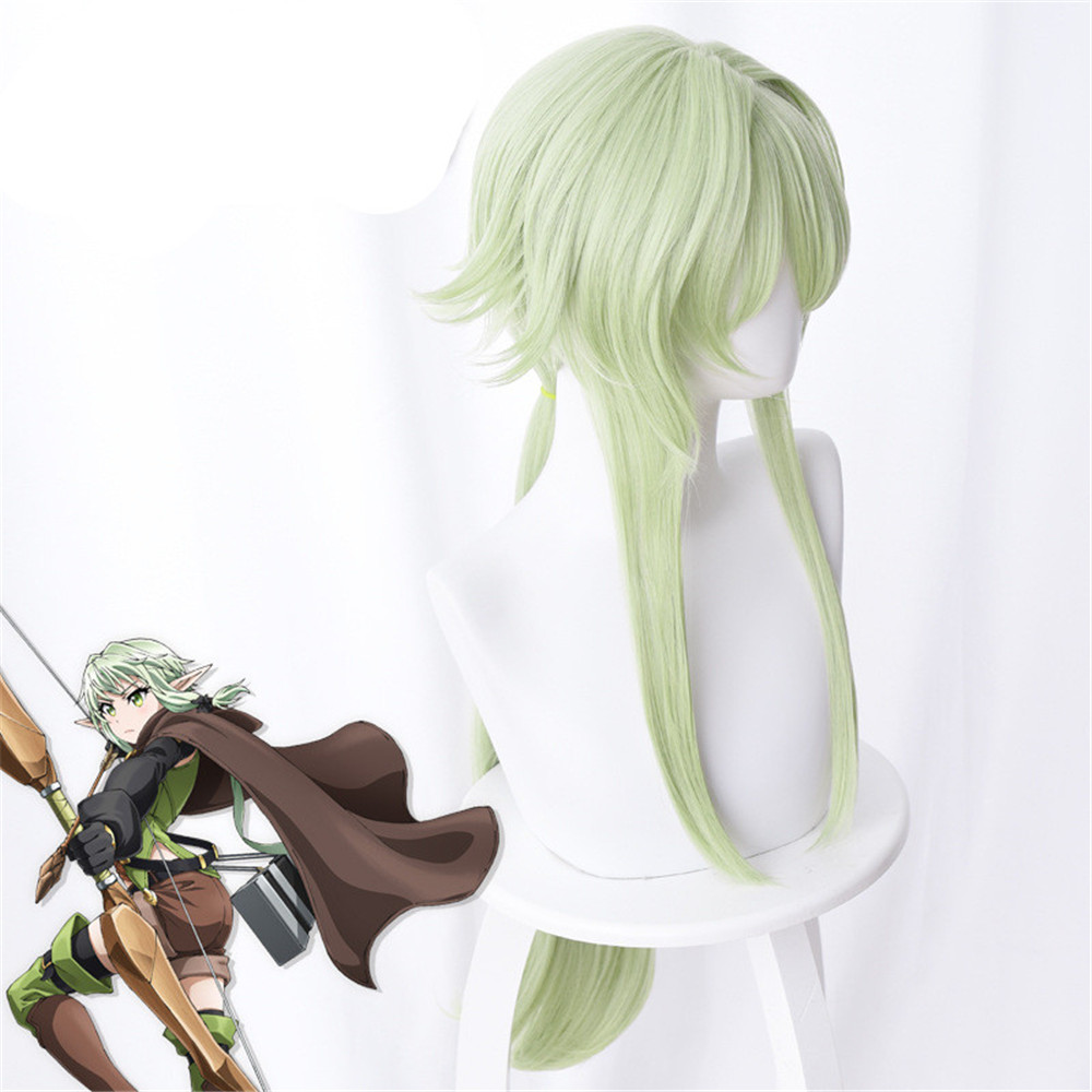 Goblin Slayer Yousei Yunde Cosplay Wig 80cm Green Heat Resistant Synthetic Hair Perucas Cosplay Wigs in Anime Costumes from Novelty Special Use