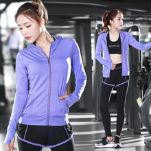 2017 Women yoga s sets Women Running Tight Jumpsuits sports suit yoga wear clothes Pure color