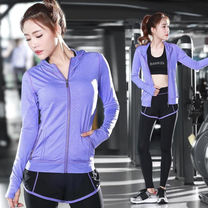 2018 Для женщин Yogas комплекты Для женщин работает плотно Комбинезоны спортивные костюм ...