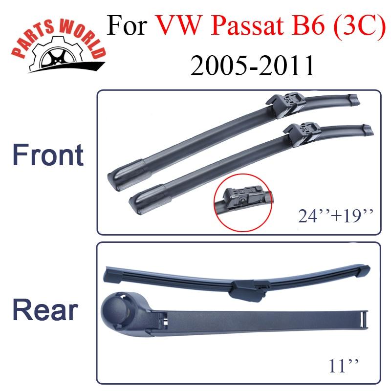 Escobillas de limpiaparabrisas delanteras y traseras para VW Passat - Autopartes