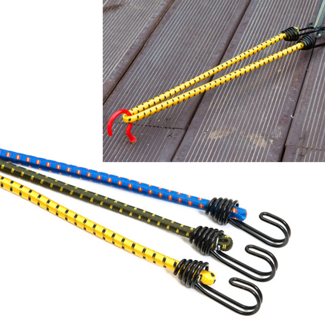1PCS outdoor tied rope tent elastic rope clothesline luggage packing versatile use outdoor tents accessories random Color