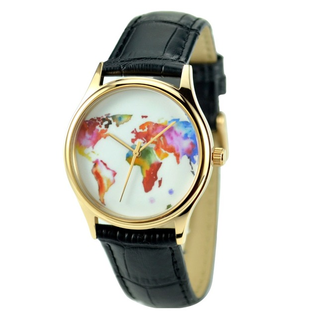 Colorful world map watch rose gold free shipping worldwide welcome colorful world map watch rose gold free shipping worldwide welcome wholesale gumiabroncs Image collections