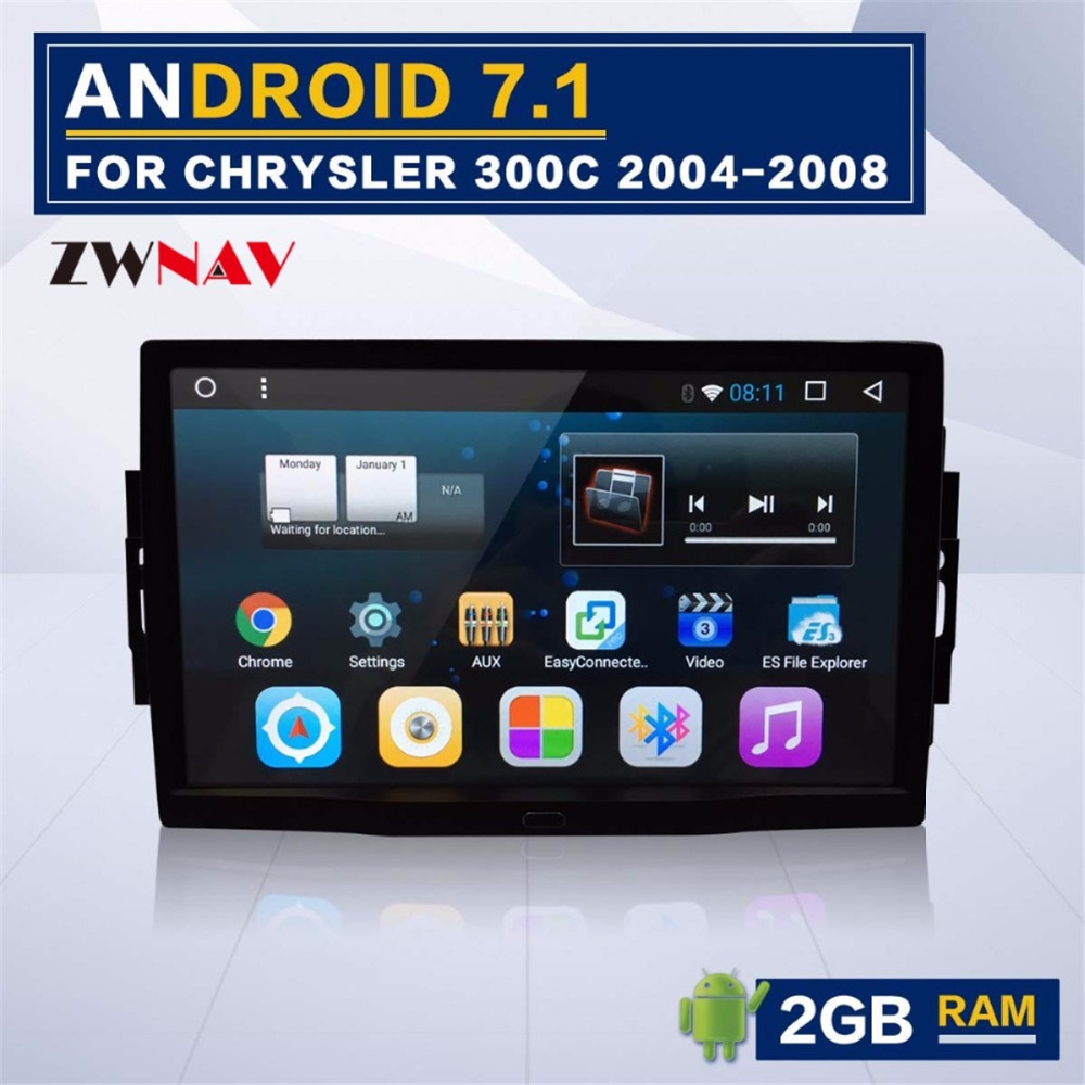 Android 8.1 8 core Autoradio GPS Navigation Radio Pour Jeep Grand Cherokee Patriot Dodge Chargeur Chrysler 300C No DVD lecteur