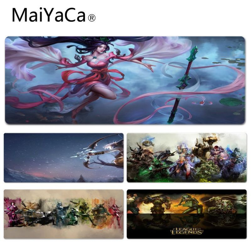 MaiYaCa Personalized Fashion LOL Guild Wars Laptop Computer Lockedge Mousepad Size for 300*900*2mm and 400*900*2mm Game Mousepad