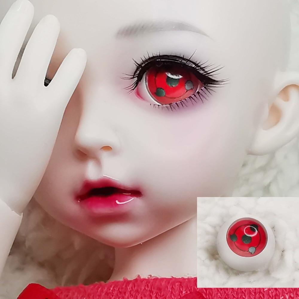 Japan Comic Amimation Sharingan Eye BJD Eyes Fo 1/4 BJD Doll Handmade 12mm 14mm 16mm 18mm 20mm 22mm Acrylic Eyeball With Handle
