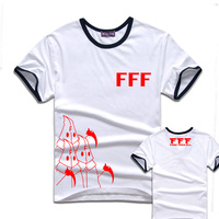 Hot Anime Mihnah Group FFF Logo Cotton T Shirt Men S Short Sleeve T Shirt Tee