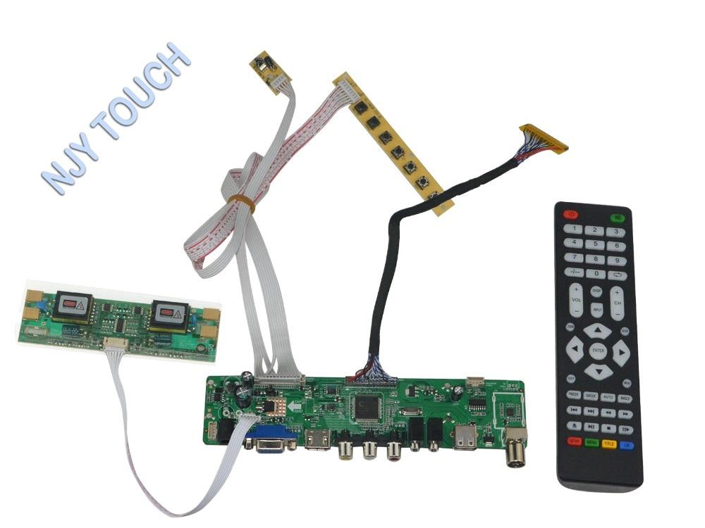 LA.MV56U.A New Universal HDMI USB AV VGA ATV PC LCD Controller Board for 20.1inch 1400x1050 M201P1-L03 4CCFL LVDS Monitor Kit m nt68676 2a universal hdmi vga dvi audio lcd controller board for 17inch 1400x900 ccfl lvds monitor kit diy for raspberry pi