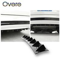 Overe 1PC Car Rear Bumper Modified Spoiler Shark Fin Styling For Fiat Punto Volkswagen VW Polo Passat B7 B8 Golf 5 6 7 Tiguan