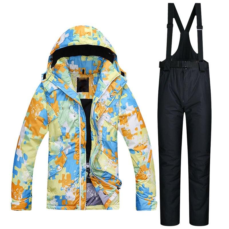 Nouveau hiver hommes Ski costume Super chaud vêtements Ski snowboard veste et pantalon costume coupe-vent imperméable vêtements d'hiver en plein air