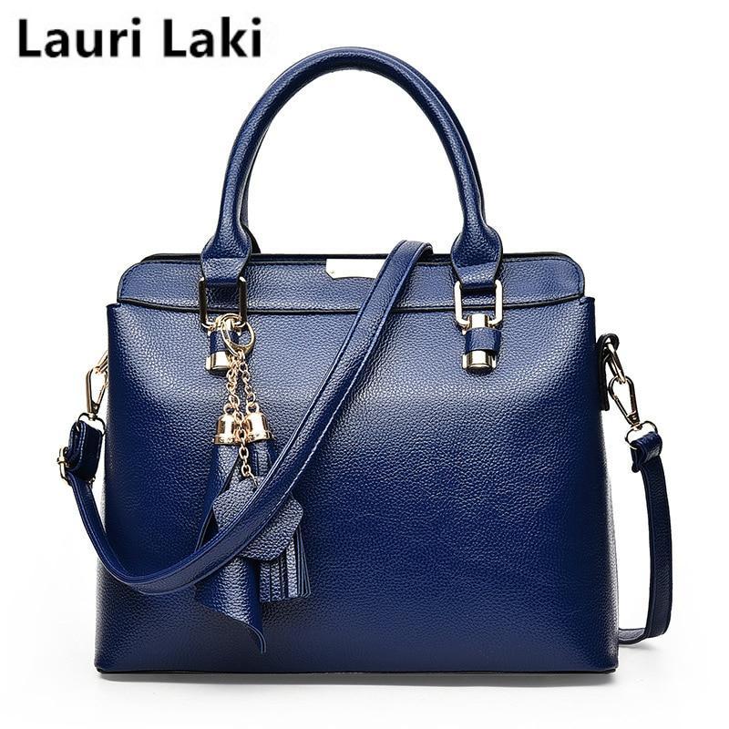Lauri Laki Tassel Solid Shoulder Bags for Women Vintage Retro Handbags Top-handle Bags Ladies Fashion Crossbody Message Bag 2018 недорго, оригинальная цена
