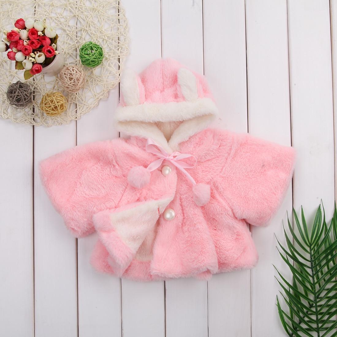 11d22ee9f Cute Baby Toddler Girl Clothes Warm Fleece Winter 3D Ear Coat ...