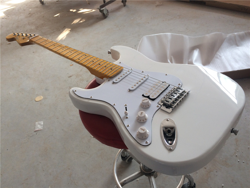 Electric guitar /new ST white COLOR left hand electric guitar/guitar in china купить