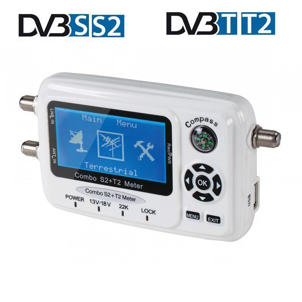 SF 560 SF-560 DVB-S/T/S2/T2 Digital Satellite Finder Signal Meter Satellite Dish Finder Sat Finder Compass Antena Parabolica sf 600 3 4 display dvb s dvb s2 digital satellite finder white black