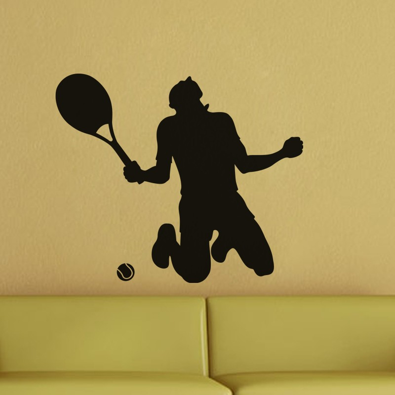Tennis Winner Wall Decal Forty Different Colors Available Vinyl Wall Stickers For Tennis Fans Bedroom Living Decor Mural ZA215
