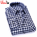 2017 New Spring Men Plaid Shirts Long Sleeve Casual Mens Check Shirt England Style Cotton Men's Brand Clothing S-4XL YN705