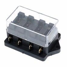 Nuovo 1 Pcs 4 Way Car Auto Circuito Standard ATC Automotive Lama Fuse Box Block Holder 250 V Per Auto accessori Auto