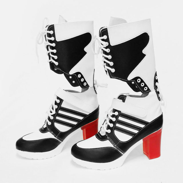 Motorcycle joker and Harley Quinn Cosplay shoes costume Moive Suicide Squad cosplay Boots halloween for women high heels Punk & Online Shop Motorcycle joker and Harley Quinn Cosplay shoes costume ...