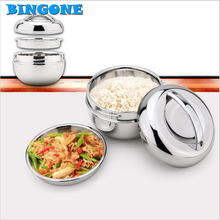 BINGONE جديد الفولاذ المقاوم للصدأ بينتو قفل غطاء عشاء دلو الغذاء الحاويات العزل المطبخ أدوات المائدة -TZ
