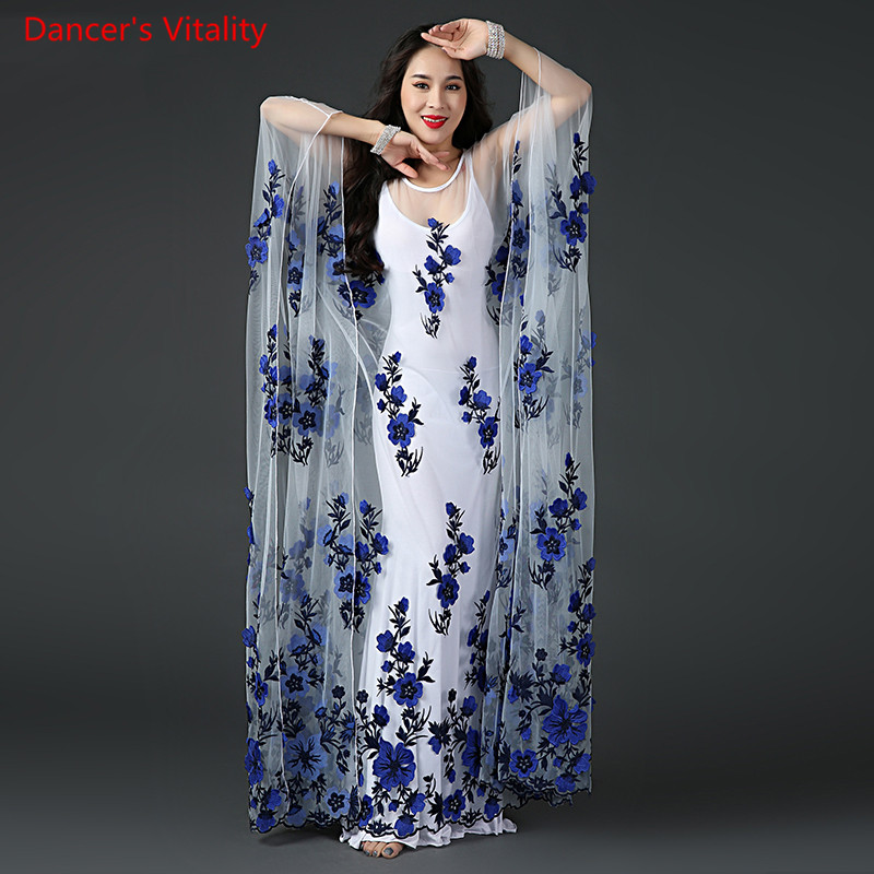 2018 New Women Professional Belly Dance Costume Dress+robe Bellydance  Costumes Stage Performance Decoration Dress