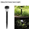 10 pcs Solar painel de LED Spot Light Garden Outdoor Caminho Lawn Light Lâmpadas Frete Grátis
