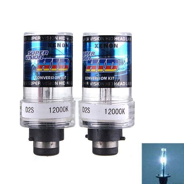 Universal Durable 2X 35W D2S Car for HID Xenon Replacement Auto Light Source Headlight Lamp Bulb 3000K-12000K