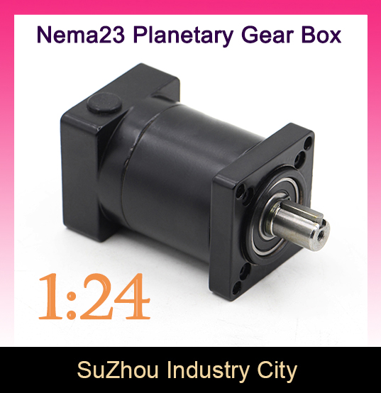 1 24 Nema23 stepper Motor Planetary Reduction Ratio 24 1 planet gearbox 57 motor speed reducer