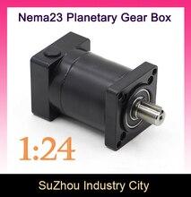 Relación de Reducción 1:24 Nema23 stepper Motor Planetario 24:1 planeta caja de cambios reductor de velocidad del motor 57, High Torque alta calidad!!