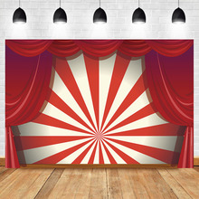 NeoBack Circus Birthday Backdrop Carnival Photography Backdrops Stripe Curtain Party Decor Photo Background for