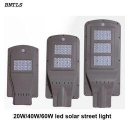 20 w 40 w 60 w doprowadziły słonecznej ulicy światła na zewnątrz wodoodporny IP65 PIR motion czujnik Inteligentna żarówka