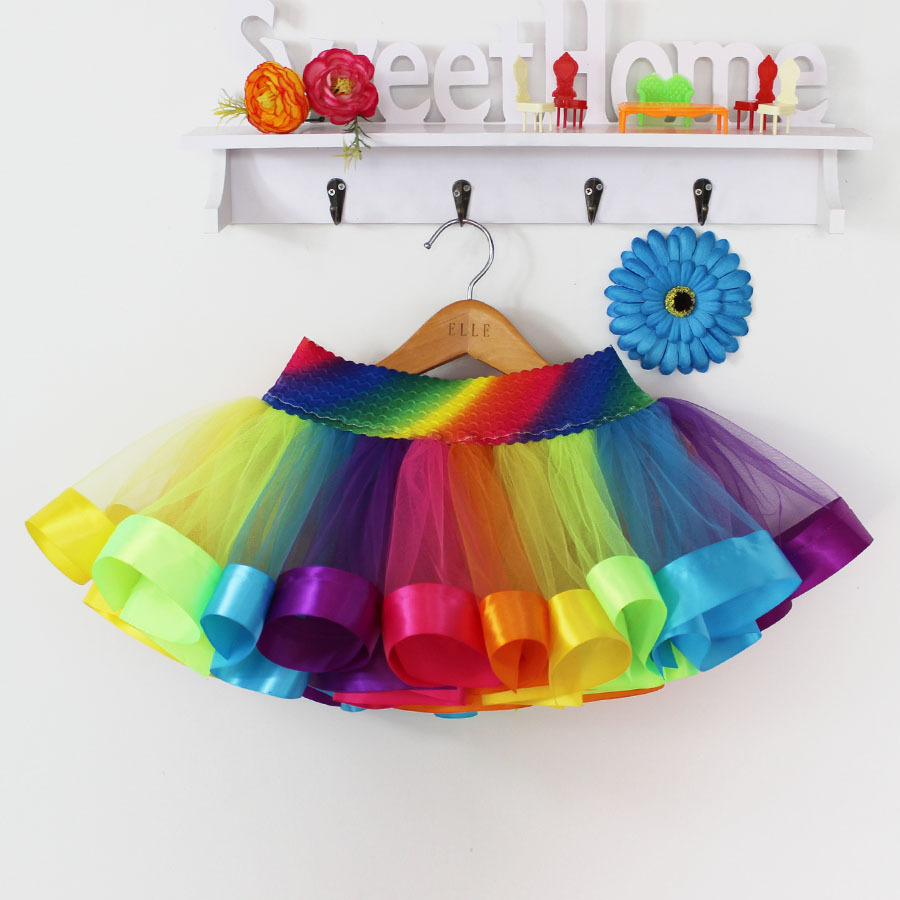 Summer-Style-Girl-Skirt-Baby-Kids-Children-Tutu-Skirt-Short-Rainbow-Skirt-3