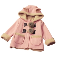 2017 Autumn Winter Baby Girls Christmas Jacket Children Outerwear Children Warm Clothes Thick Leather Jackets