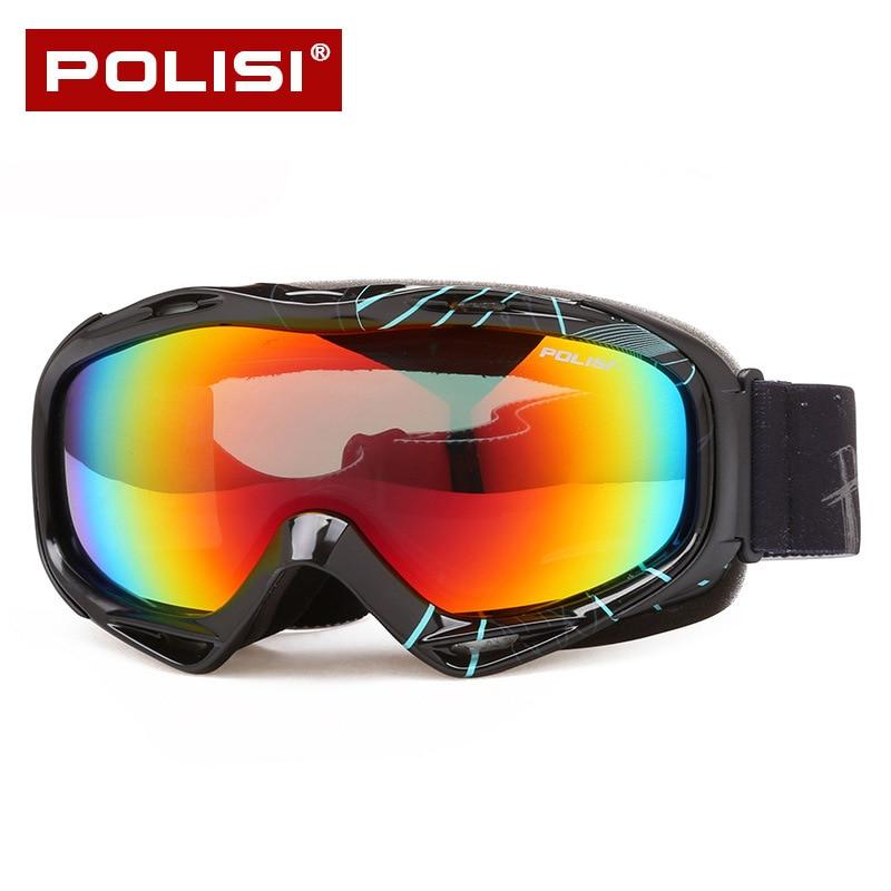 Профессиональный Для Мужчинs Лыжный Спорт очки поляризованные двойной Слои объектив Анти-туман восхождение Moto rcycle Для женщин сноуборд Moto о...