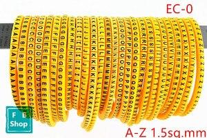 650 шт EC-0 1.5кв. Мм A-Z английская буква гибкий рукав печати этикетка Сетевой Кабель маркер